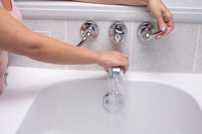 Filler tube on faucet
