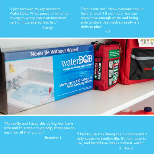 waterbob emergency water storage container testimonials 2